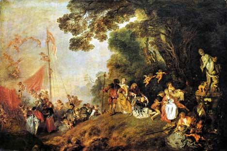 Antoine Watteau: Einschiffung nach Kythira
