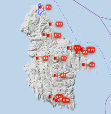 Kythira Wanderwege auf GPSies